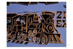 オールポスターズの アンディ・ウォーホル「Train, c.1983」アート
