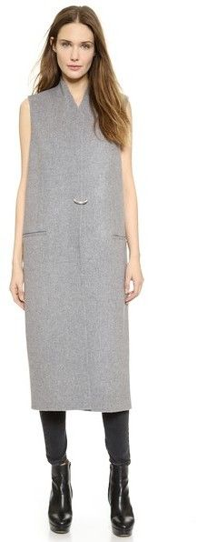 Grey Sleeveless Coat by Acne Studios. Buy for $1,250 from shopbop.com