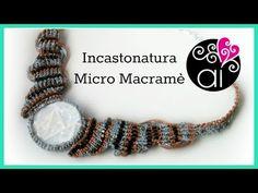 Tutorial Micro Macramè | Incastonatura Cabochon Non Forato o Disco Piatto - YouTube
