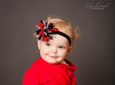 Valentines Day Headband Valentines Day Bow by MommysBowCreations