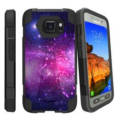 Samsung Galaxy S7 Active case, S7 Active Case [SHOCK FUSION] High Impact Dual Layer Case with Kickstand by Miniturtle® - Heavenly Stars