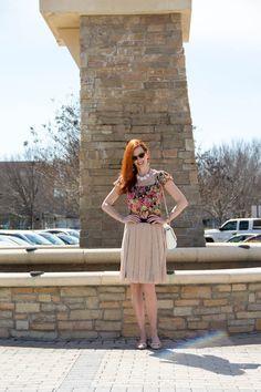 Turning Heads Tuesday Linkup and Chiffon Skirt - Elegantly Dressed & Stylish - Over 40 Fashion Blog