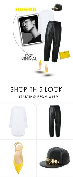 """My style is edgy minimal!"" by cinnamonrose30 ❤ liked on Polyvore featuring Mulberry, Neil Barrett and Moschino"