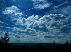 The sky,  the sky is blue