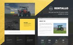 Rentallo - Farming Equipment & Machinery Rentals WordPress Theme WordPress Theme