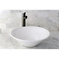 @Overstock.com - Vessel Vitreous China White Bathroom Sink - Update your bathroom decor with this attractive vitreous china vessel sink. The sleek white sink is carefully crafted, stain and germ resistant and very easy to clean.  http://www.overstock.com/Home-Garden/Vessel-Vitreous-China-White-Bathroom-Sink/6569991/product.html?CID=214117 $88.99