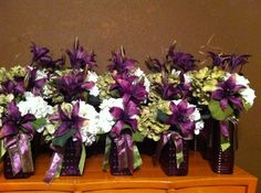 Eggplant Wedding Centerpiece Ideas. Butterfly At Wedding Meaning. My ...