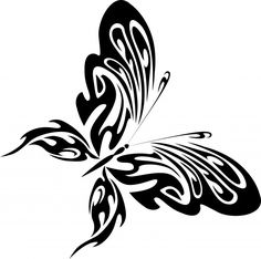 Beautiful professional Silhouette   Silhouette Of A Black Butterfly Free Stock Photo - Public Domain ...