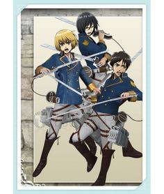 Attack on Titan Shingeki No Kyojin The Wings of Counterattack Eren Jaeger Mikasa Armin Blue Cosplay Costume Full Set
