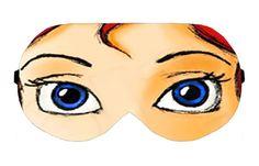 Ariel The Little Mermaid Disney Sleep Sleeping Eye Mask Masks Blindfold Eyemask Travel Kit Shade Shades cover Slumber Slumbers Present Gift by venderstore on Etsy