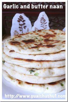 Garlic Naan Bread (蒜香印度烤饼)