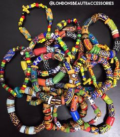 #Ghana Bracelets #KroboBeads: @londonsbeautiiaccessories #LondonsBeautiiAccessories  Please email londonsbeautiiaccessories@gmail.com for inquiries and/or to purchase. Ghana Style, African Fashion, Hair Inspiration, Beads, Bracelets, Instagram Posts, Accessories, Jewelry, O Beads