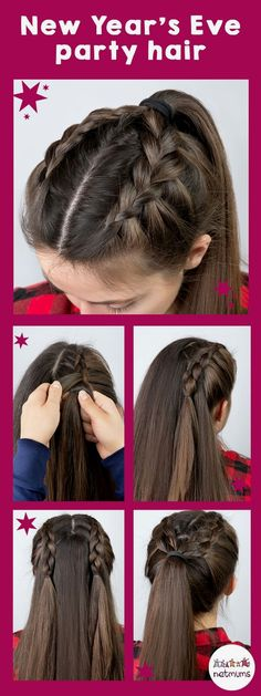 Simple Hair Tutorials, - Haar-Tutorial einfach - Your HairStyle New Year's Eve Hair, New Year Hairstyle, Hairstyle Ideas, Hair Looks, Hair Lengths, Hair Inspiration, Cool Hairstyles, Wedding Hairstyles, Simple And Easy Hairstyles