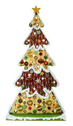 Nicole™ Crafts Old Tyme Lighted Christmas Tree #christmas #craft