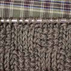 ⇐ Back to Stitch Patterns              This uses two different stitches to create the look of wide weaving. For this pattern I have used the...
