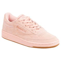 Reebok Classic Leather Faux Exotic Trainers In Pink Pink