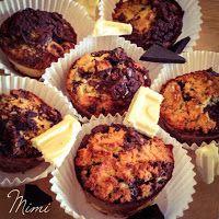 Chocolate chip muffin feketén-fehéren (paleo)