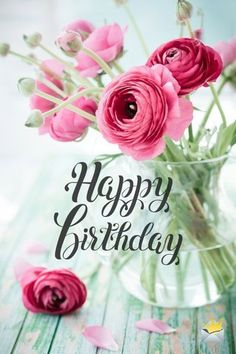 The best Happy Birthday Images - Birthday Wishes! - The best Happy Birthday Images Happy birthday image with flowers. Cool Happy Birthday Images, Happy Birthday Wallpaper, Happy Birthday Wishes Quotes, Birthday Wishes And Images, Birthday Blessings, Birthday Wishes Cards, Happy Birthday Sister, Happy Birthday Greetings, Wishes Images
