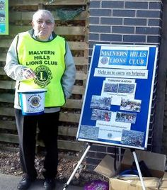 BUCKET SHAKING: Malvern Hills Lions Club member Geoff Lewis stands outside Waitrose yesterday collecting funds for the victims of Typhoon Ha...