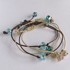 Crystal, Bead Bracelet, | http://awesomejewelrycollections.blogspot.com