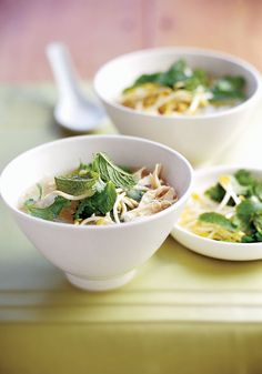 Thai chicken noodle soup from Outside