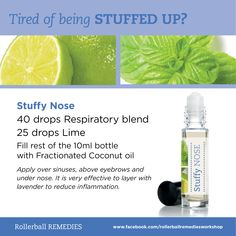 Being stuffed up is no fun at all... the Stuffy Nose Rollerball will at least help you breathe easier.