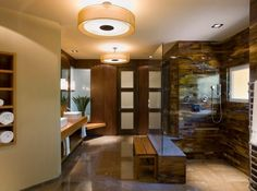 Bathroom, Modern Bathroom Design And Layout Green Bathroom Vanities Spa Like Asian Bath With Sleek Design: Eye-Catching Japanese Bathroom Design Small Space