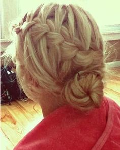 add some flare to a low bun with this gorgeous waterfall braid