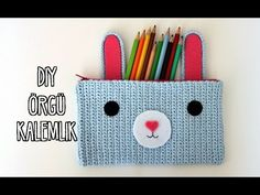 Duygu'nun DIY Günlüğü: Kendin Yap Örgü Kalemlik / Dıy Crochet Pencil Case - YouTube Knitting Needles, Baby Knitting, Pen Holder Diy, Crochet Pencil Case, Snapchat, Knitted Baby Clothes, Cute Crochet, Diy And Crafts, Handmade