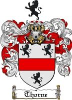 Thorne Coat of Arms / Thorne Family Crest  Our 11th Great Grandparents were:  Roger Dudley and Susannah Thorne, Our 12 Great Grandparents were Thomas Thorne and Mary Purefoy