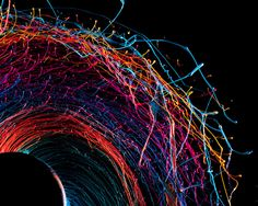 These incredible photographs by Fabian Oefner were made by paint, a metallic rod, a drill, and a high-speed camera. Using special sensors, the camera captures the image precisely as the drill begins to spin. The paint flies off of the drill 1/40000 of a second after the drill is turned on, and the beautiful design [...]