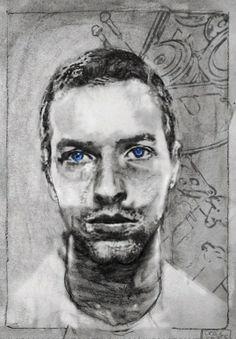 Mixed Media Artwork: Collage Art by Derek Gores Collage Portrait, Collage Art, Portraits, Life Drawing, Figure Drawing, Derek Gores, Words On Canvas, Kings Of Leon, Mixed Media Artwork