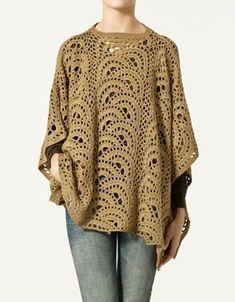 Crochet Poncho Free Pattern