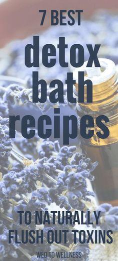 7 Best Detox Bath Recipes to Naturally Flush Out Toxins #detoxbath #detox #bath #naturaliving #naturalhealth #naturalremedies #healthyliving #bathsalt #essentialoils
