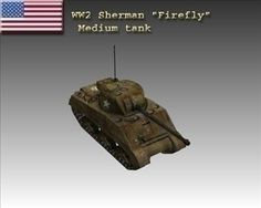 WW2 USA M4 Sherman Firefly 3D Model-   The Sherman Firefly was a World War II British and Canadian variation of the American Sherman tank, fitted with the powerful British 17 pounder anti-tank gun as its main weapon. Originally conceived as a stopgap tank until future British tank designs armed with the 17 pounder came into service, the Sherman Firefly became the most common vehicle to be used with the 17 pounder as its main armament during World War II.  - #3D_model #Army,#War,#Tank