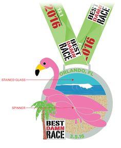 Orlando - Best Damn Race Half Marathon Medal 2016
