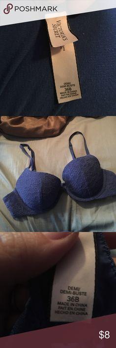 36b Victoria's Secret lace bra Beautiful blue lace underwire bra by Victoria's Secret. Size 36a Victoria's Secret Intimates & Sleepwear Bras