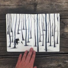 """Encounters.   Book process """"The forest in me"""""""