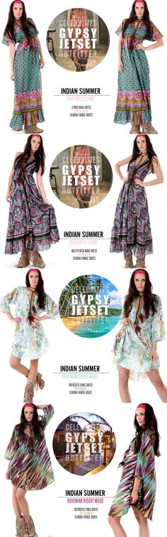 Gypset Dresses  Tunics by INDIAN SUMMER #gypset #gypsy #bohemian #dresses…