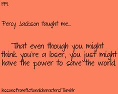 What Percy Jackson taught me