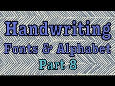 ▶ DIY: Stylin' Font Saturday! Handwriting Fonts Pt. 8 - YouTube