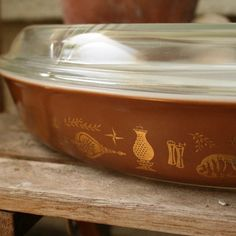 early americana brown divided casserole with lid $18
