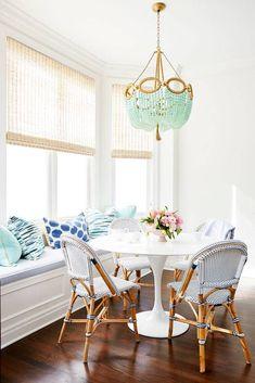 pastel beaded chandelier