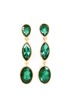 Chloe Earrings in Emerald
