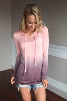 Ombre Hoodie ~ Pink – The Pulse Boutique