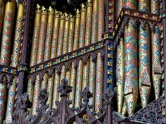 Ely Cathedral organ pipes by osmanthus1989 on flickr, via Ship of the Fens tumblr