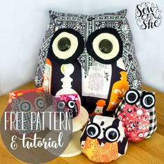 Adorable Owls - Free Sewing Pattern & Tutorial — SewCanShe | Free Daily Sewing Tutorials