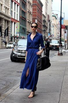 Basic Blues - I want this shirt dress via  Ana Ismi Fibi via Sharon Almasi-Buzmion onto fashion & style
