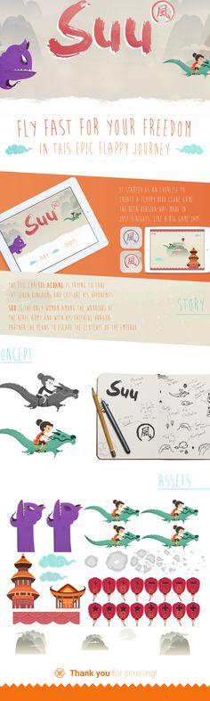 """Suu"" Indie Game by Rafael Lima, via Behance"