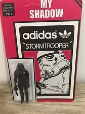 adidas Originals Star Wars Stormtrooper Shadowtrooper Figure Toy Rare Limited ed